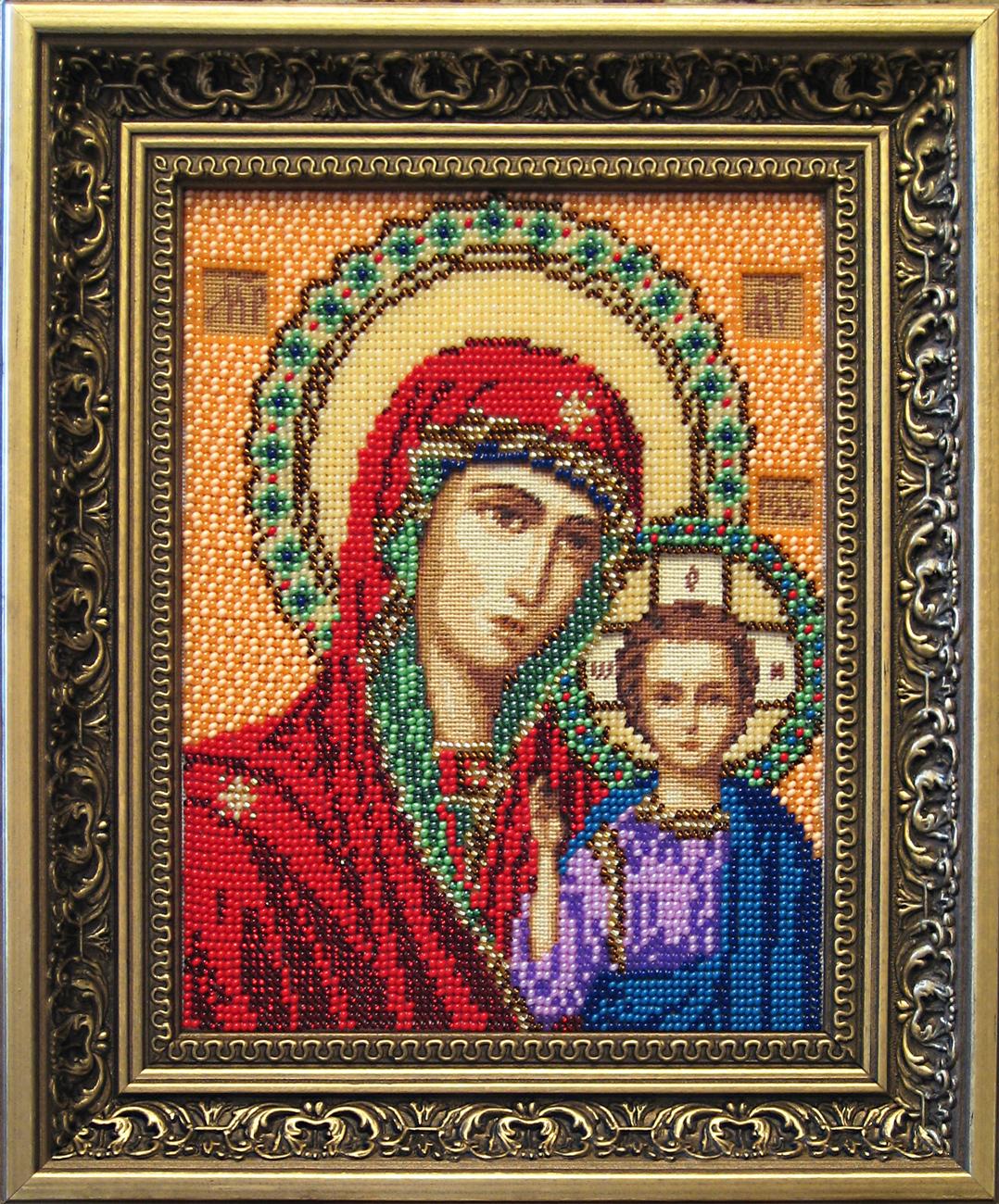 Казанская божья матерь схема вышивки